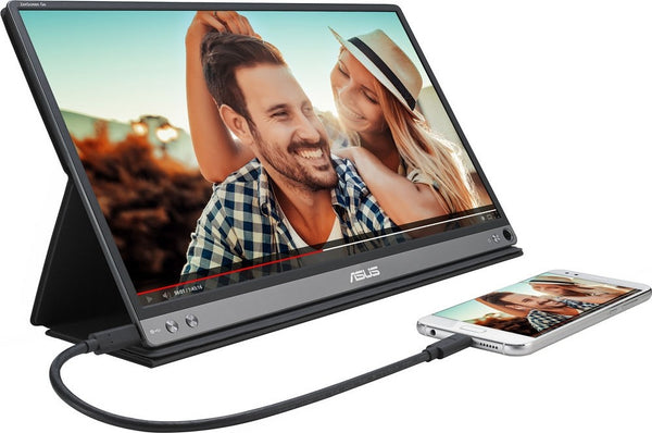 Asus ZenScreen GO MB16AP 15.6 Inch Full HD (1920 X 1080) IPS USB Type C, Flicker Free, Blue Light Filter Portable USB Monitor (Black) | 90LM0381 B02170 - tharmart.com