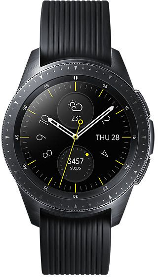 Samsung Galaxy Watch 42mm, Midnight Black - SM-R810NZKAXSG - tharmart.com