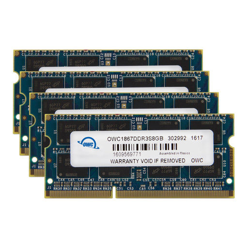 48GB OWC Memory Upgrade Kit (2 x 8GB + 2 x 16GB) 1867MHZ PC3-14900 DDR3 SO-DIMM