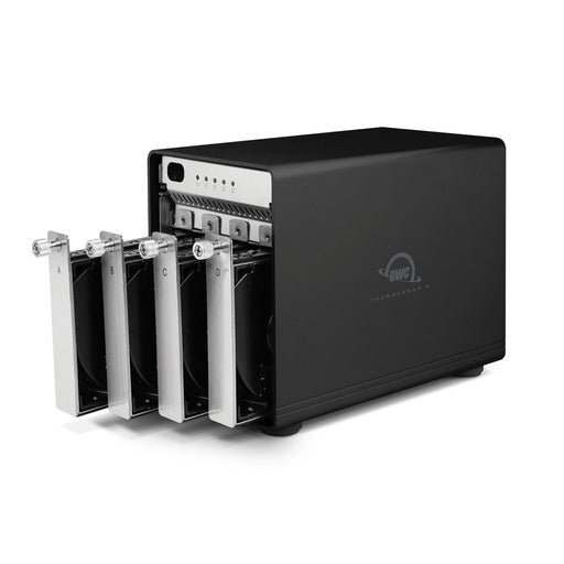 56TB OWC ThunderBay 4 RAID 5 (Thunderbolt 2 Model) with Dual Thunderbolt 2 Ports and SoftRAID XT