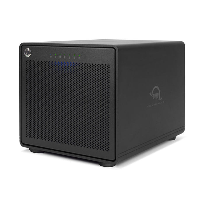 "OWC ThunderBay 6 RAID - External Storage Enclosure with 6 x 3.5""/2.5"" Drive Bays, M.2 Slot and Dual Thunderbolt 3 Ports (Includes SoftRaid XT)"