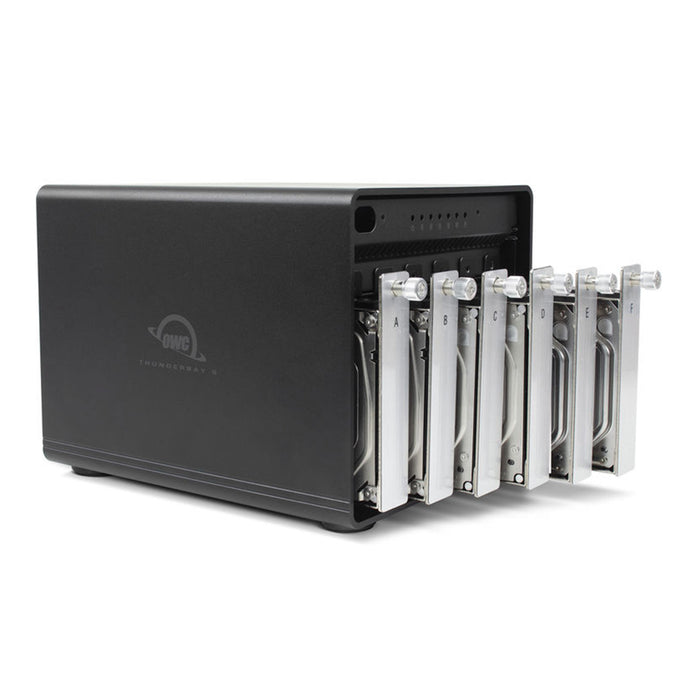 OWC 72TB HDD ThunderBay 6 RAID with Dual Thunderbolt 3 Ports and SoftRAID XT