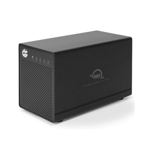 8TB HDD OWC ThunderBay 4 mini HDD (Thunderbolt 3 Model) with Dual Thunderbolt 3 Ports and SoftRAID XT