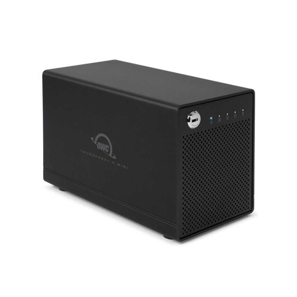 8TB HDD OWC ThunderBay 4 mini (Thunderbolt 3 Model) with Dual Thunderbolt 3 Ports and SoftRAID XT Lite