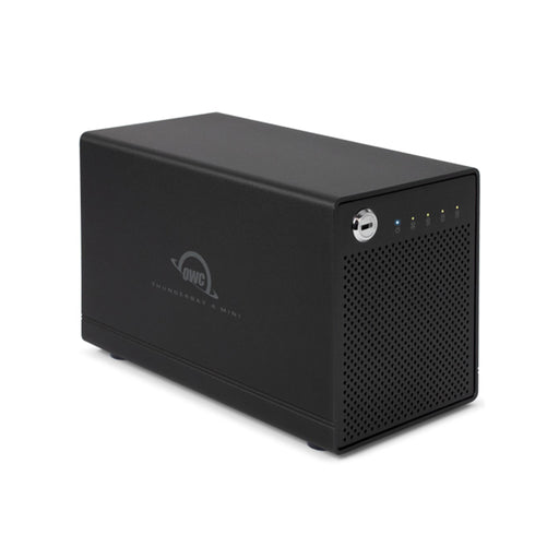 OWC ThunderBay 4 mini Enclosure (Thunderbolt 3 Model) with Dual Thunderbolt 3 Ports and SoftRAID XT Lite