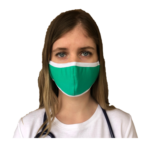 Female cotton face mask green