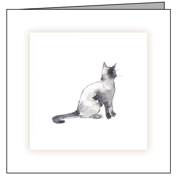 Animal Hospital Sympathy Card - Sitting Cat