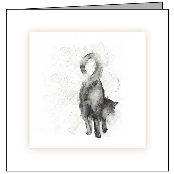 Animal Hospital Sympathy Card - Cat Standing