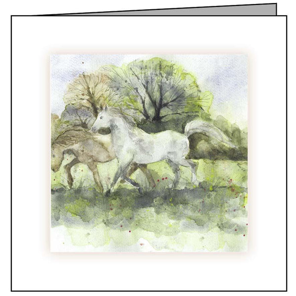 Large Animal Hospital Sympathy Card - Galloping Ponies