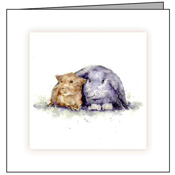 Animal Hospital Sympathy Card - Rabbit and Guinea Pig