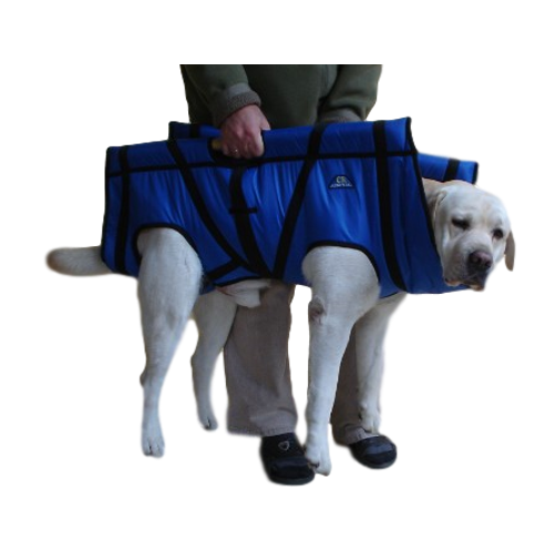 durable stretcher for large heavy dogs blue