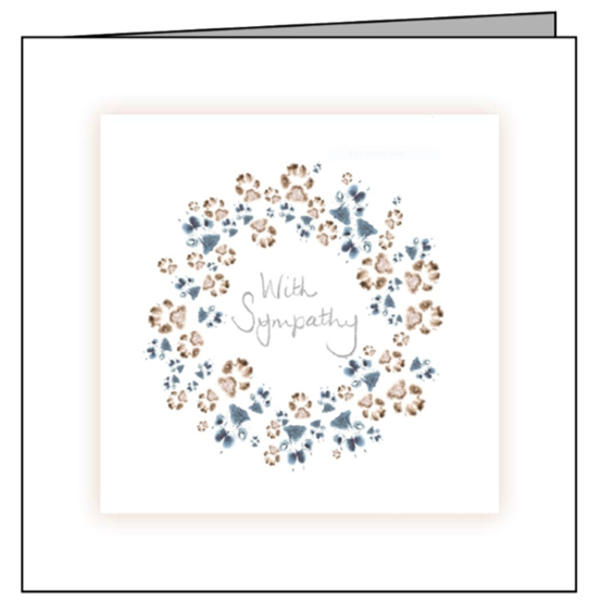 Animal Hospital Sympathy Card - Wreath of Paws