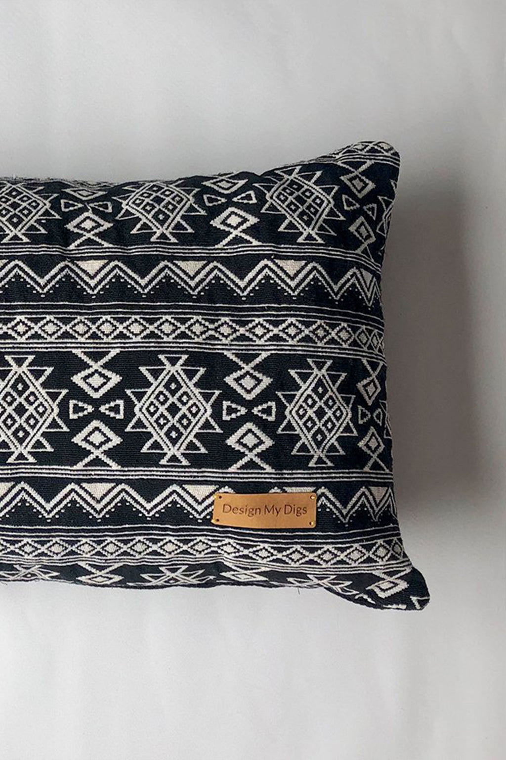 Black Aztec Pillow - Design My Digs - Dog Beds and Dog Decor Online Australia