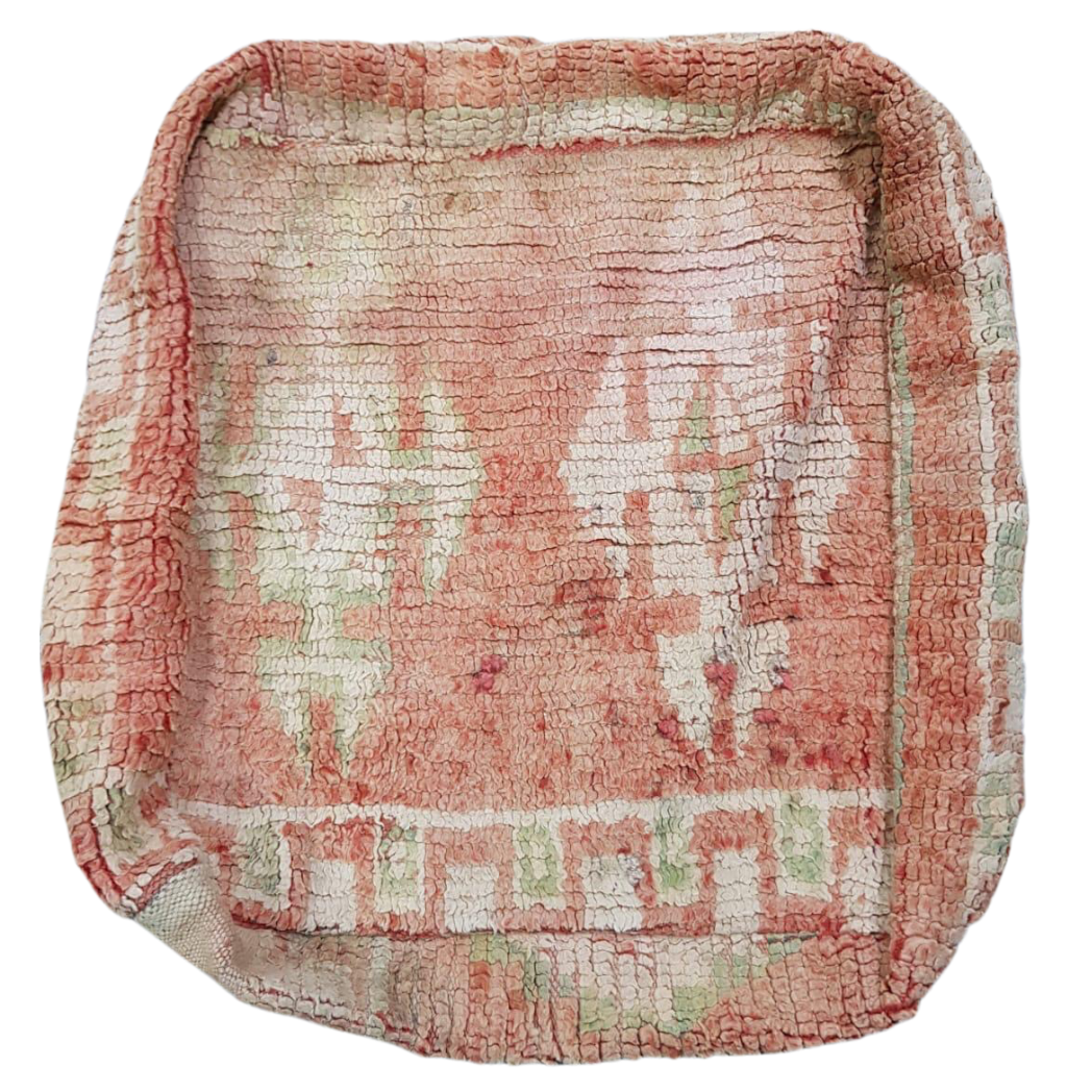 Moroccan Rug Cushion - Dusty Pink and Green II