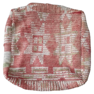 Moroccan Rug Cushion - Dusty Pink and Green