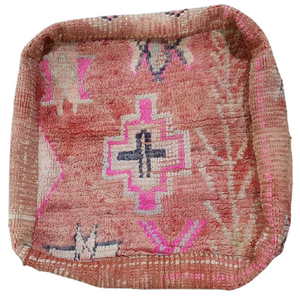 Moroccan Rug Cushion - Dusty Pinks with Diamonds