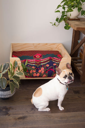 Boho Style Dog and Plywood dog bed by Design my Digs - Decor for Dogs online Australia