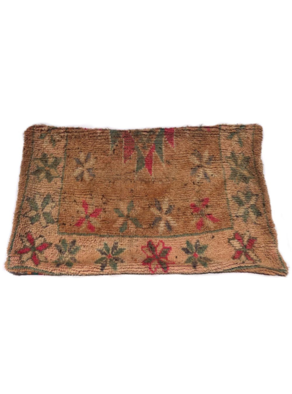 Moroccan Rug Pet Pillow - Brown and Pink (Large)