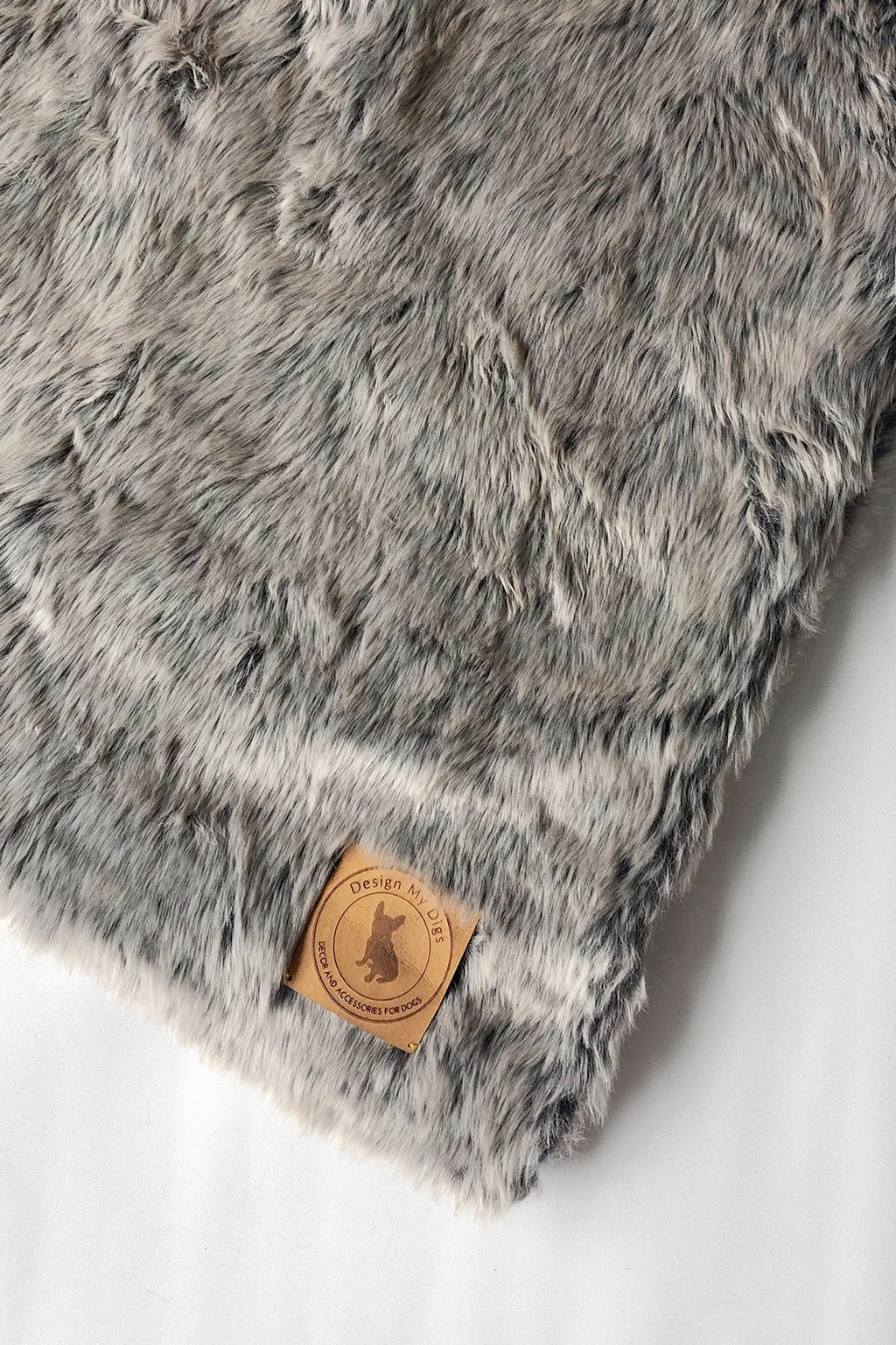 Grey Faux Fur Throw - Dog Beds and Dog Houses Online Australia - Design My Digs
