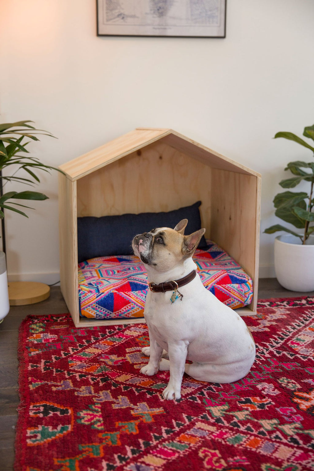 Navy Denim Rectangle Pillow Dog Beds and Dog Houses Online Design My Digs Australia