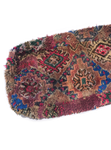 Moroccan Rug Cushion - Bright Blue Pink (Large)