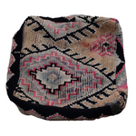 Moroccan Rug Cushion - Pink and Black