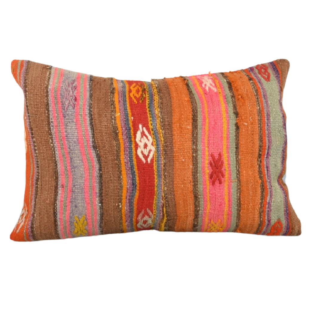 Natural Stripes Turkish Cushion - Extra Large