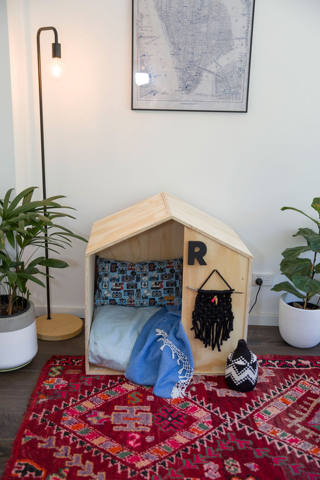 Wooden Plywood Dog House Online Australia - Stylish pet beds