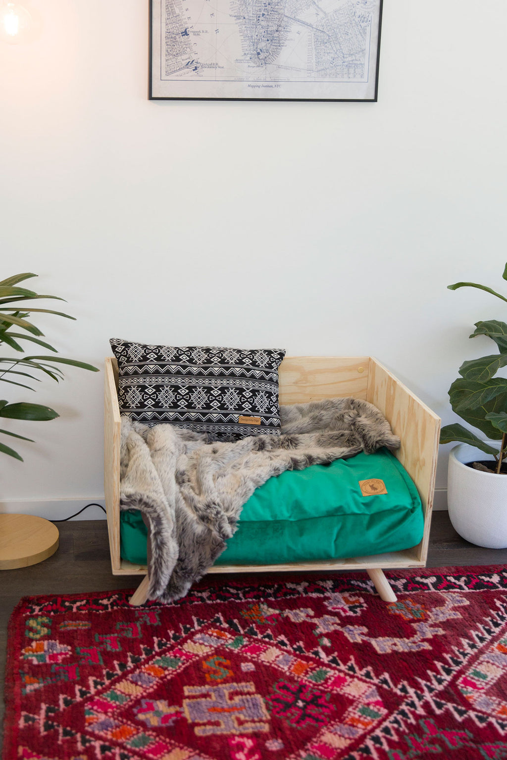 Wooden Handmade Dog Bed Online Australia - The Baxter - Design My Digs