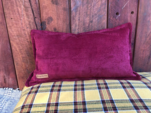 Burgundy Cord Rectangle Pet Pillow