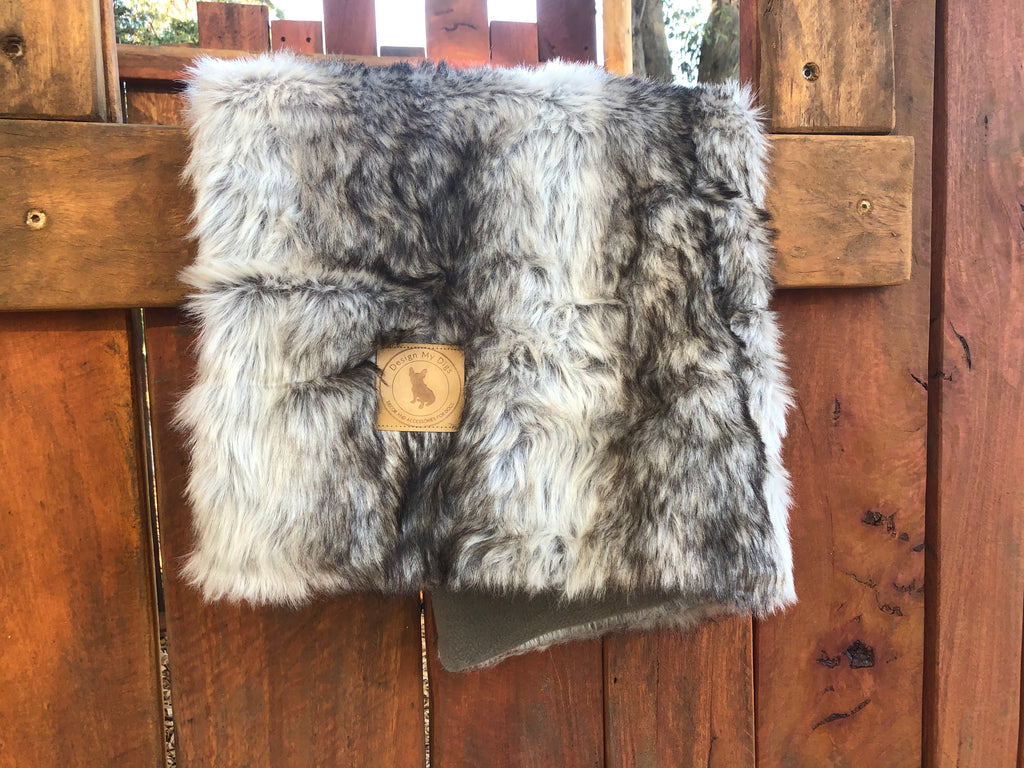 Natural Faux Fur Throw