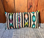 Teal Aztec Rectangle Pillow