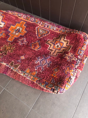 Moroccan Rug Cushion - Purple (Large)