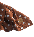 Bed Topper - Cognac Polka Dots