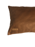 Faux Leather Rectangle Pillow