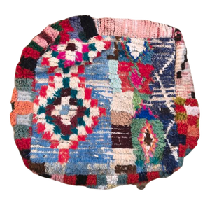 Moroccan Rug Cushion - Vibrant Diamonds