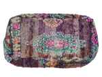 Moroccan Rug Cushion - Purple Pink and Green (Large)