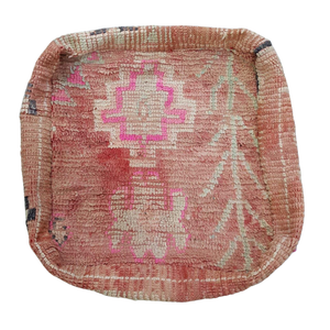Moroccan Rug Cushion - Dusty Peach and Pink