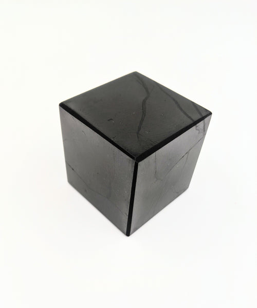 "Polished Shungite Cube 2"" x 2"""