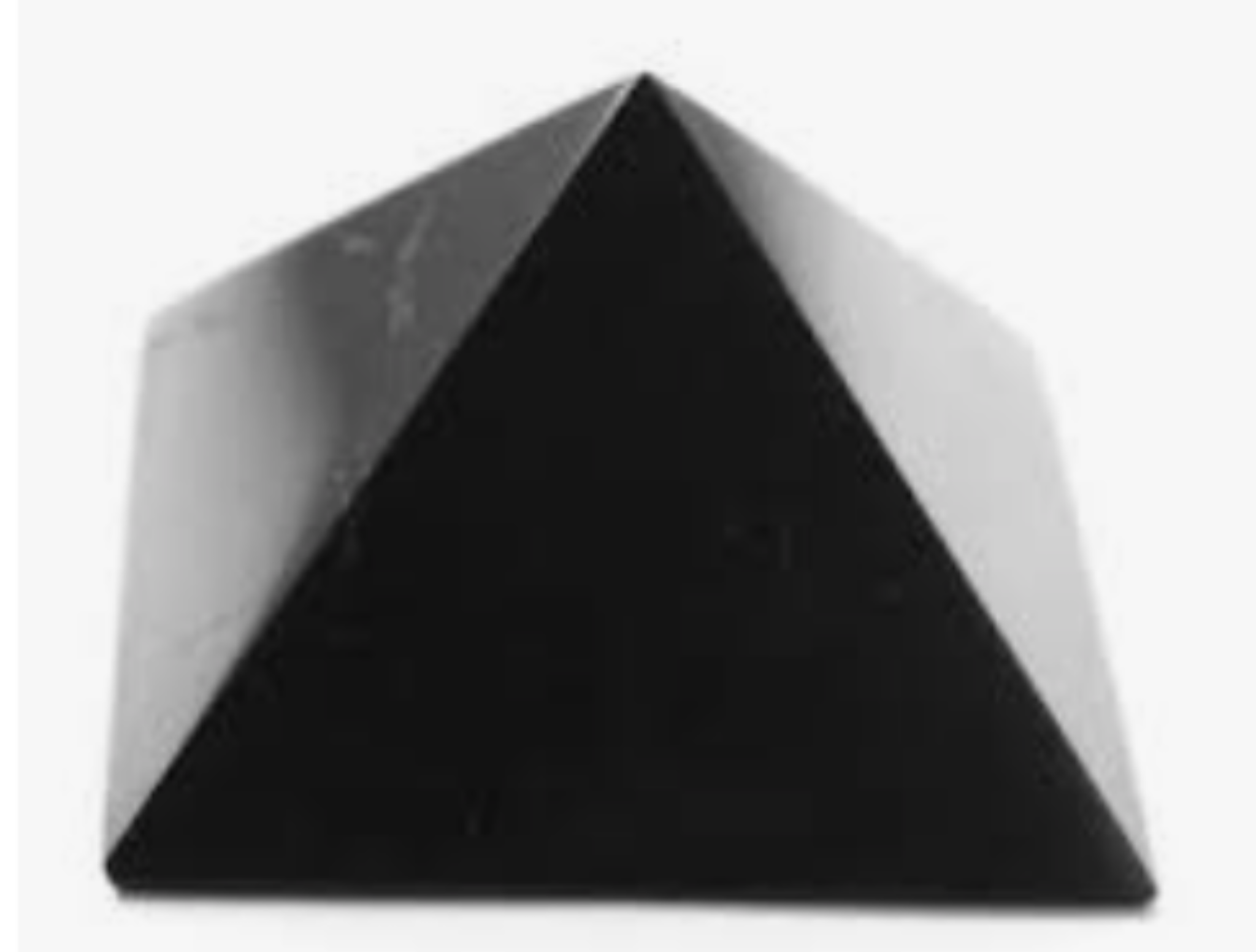 Polished Shungite Pyramid EMF/5G Protection