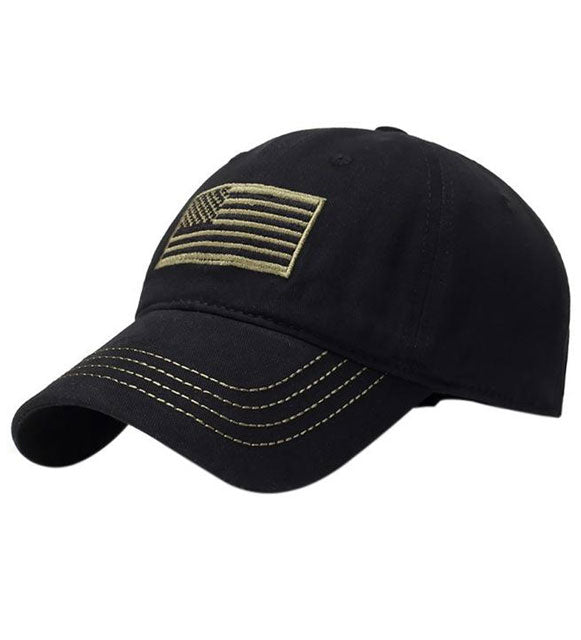 AMERICAN FLAG TACTICAL HAT EMBROIDERED CAP