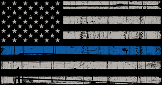 USA Flag BlueLine Sticker
