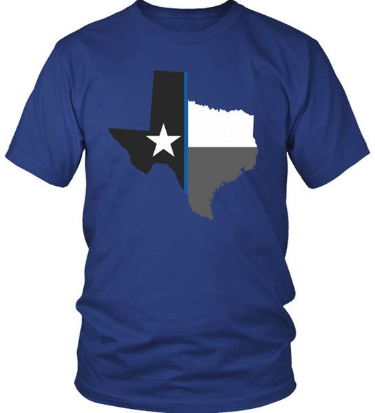 TEXAS STATE BLUE LINE FLAG T-SHIRT