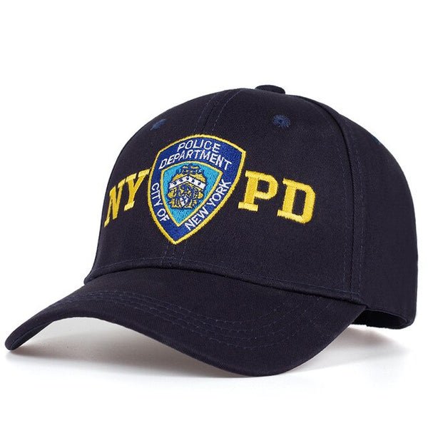 2019 high quality NYPD embroidery baseball cap outdoor sun caps adjustable 100%cotton couple dad hat Hip Hop Police Hats