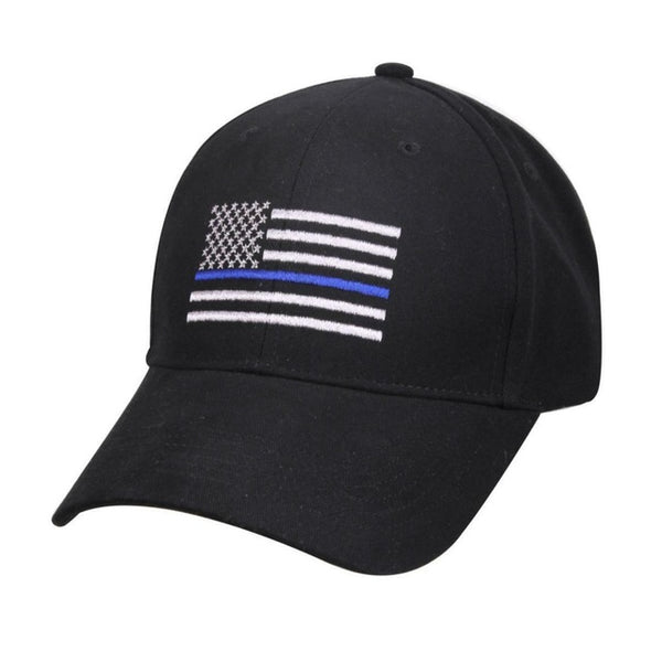 Police Thin Blue Line Flag Cap Low Profile Hat Baseball Support Law Enforcement