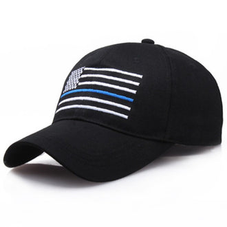 2019 New Fashion American Flag Thin Blue Line Flag Low Profile Tactical Hats Embroider Baseball Cap Adjustable Hat Outdoor Sport