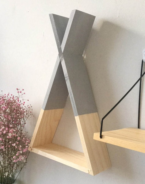 Nordic Style Nursery Wooden X Hanging Storage Rack Decoration Frame For Kids Room  Wood Decor Rack For Scandinavian Kids Room