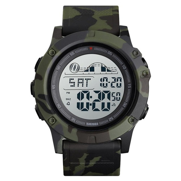 Waterproof Military Watch Men Sport Watch Electronic Double Time LED Backlight Wrist Watch Stopwatch Tactical Watch For Men