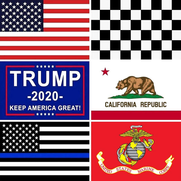 3x5 Ft American Flags USA Trump California Gadsden Dont Tread On Me Thin Blue Line Home Decorative United States US Flag Banner