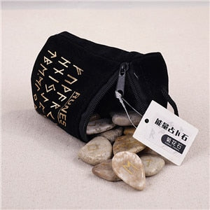 25PCS/Set Rune Stones Irregular Nordic Spiritual Stones Accessories Natural Crystal Runestones Divination Stones For Meditation